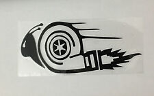 Caracol Turbo ☆ ☆ Coche Decal Pegatina De Vinilo JDM VW DUB DRIFT Race Euro Swag (Negro)