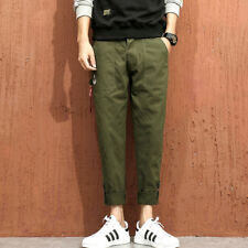 Ribbon Pocket Man's Fashion Ninth Pants - Green