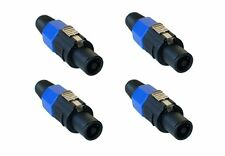 4 Pack - Speakon Plug Male 4 Pole Conductor Speaker Pro Audio Cable Connector