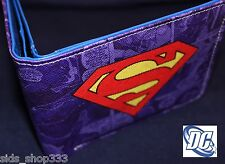 SUPERMAN Logo bi fold wallet Man of steel cosplay DC Comics US Seller great gift