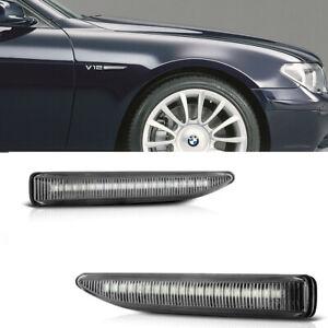 Dynamic LED Side Marker Turn Signal Lights 02-08 For BMW E65 E66 E67 7-Series 2x