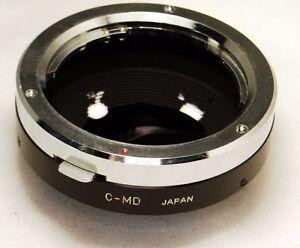 Minolta MD/MC Lens to C Cine mount adapter 16mm Bolex CCTV cameras made in Japan