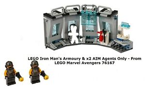 LEGO Iron Man's Armoury & x2 AIM Agents Only - From LEGO Marvel Avengers 76167