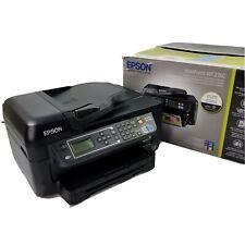 Epson Workforce WF-2650 All In One Inkjet Printer wireless USB 2.0 Black Euc