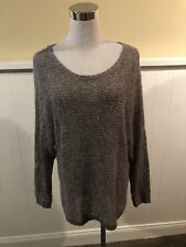 Women's Rubbish Gray/Taupe High Low Crochet Sweater  Size M