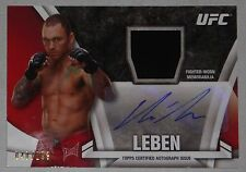 Chris Leben Signed 2013 UFC Topps Knockout Fighter Relic Autograph Card # 40/299