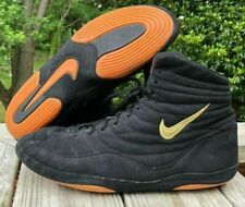 OG Nike Inflict Wrestling Shoes Size 15 Black Gold Rare