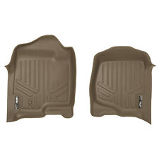 SMARTLINER All Weather Floor Mats Liner for Chevy Trucks / SUV Front Set (Tan)