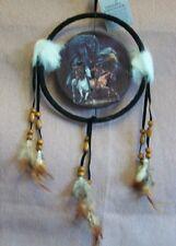 16cm dreamcatcher indians on horse.