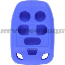 New BLUE Keyless Remote Head Key Fob Clicker Case Skin Jacket Cover Protector