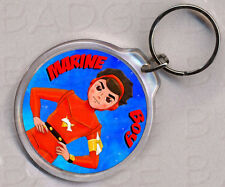 MARINE BOY double sided round keyring -  RETRO CLASSIC!