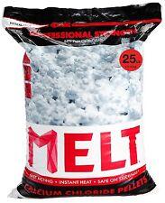 25 lb MELT Professional Strength Calcium Chloride Pellets Ice Melter Bag