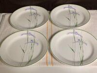 "Set of 4 - Corning Corelle - Shadow Iris - 7 1/4"" Salad Bread Dessert Plates EUC"