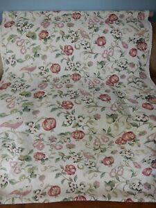 "Vintage SANDERSON ""PEARS & POMEGRANATE"" floral fabric RARE 3.3 M LINEN 2009"