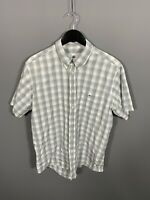 LACOSTE SHORT SLEEVE Shirt - XL - Check - Check - Great Condition - Men's