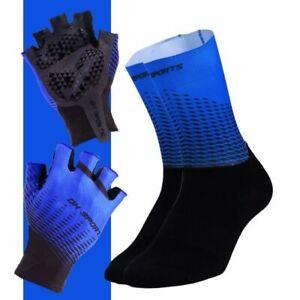 Cycling Gloves Bicycle Socks Set Anti Slip Unisex Shockproof Short Half Finger