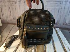 Bebe AS iS purse Bag tote handbag bookbag mini backpack studded