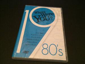 WHERE WERE YOU? 1980'S VOL. 2 OZ DVD DURAN DURAN OMD PSEUDO ECHO WALL OF VOODOO