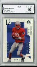 Gem Mint 10 2000 UD Upper Deck SP Authentic Tom Brady Rookie #0012/1250 Reprint