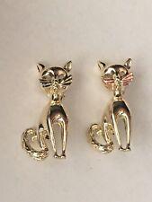 Set of Golden Cats Brooch Pins