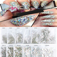 1440x Flat Back Nail Art Rhinestones Glitter Diamond Gems 3D Tips DIY Decoration