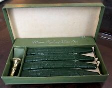 Vintage Walkden England Mura Wax Desk Seal Fancy Set Rose 4 Candles Boxed