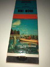 Vintage Matchbook Cover Iron Inn Negaunee Michigan