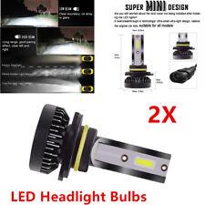 2xPowerful 9012 HIR2 LED Headlight Bulb High/Low Beam Kit COB REE Flip Chip Trim