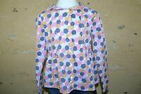 CYRILLUS Fille 8 ans superbe chemise manches longues blouse gris rose ocre