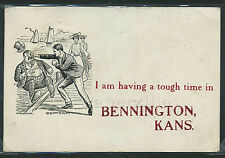 KS Bennington LITHO 1909 I AM HAVING a TOUGH TIME in MAN PUNCHED by W. Dunn