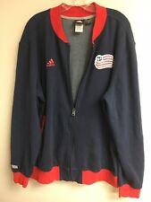 Adidas Men's New England Revolution MLS/Soccer Zip Front Sweatshirt XL