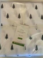 Pottery Pine Tree VAR Sizes Sheet Set Organic Cotton New Christmas Percale NWTG