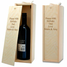 Personalised Straw Filled Wooden Wine Box with a Rope Handle only £13.99