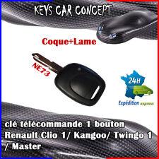 1Button Gousset Clé Télécommande 433MHz PCF7946 Puce pour Renault Twingo Clio
