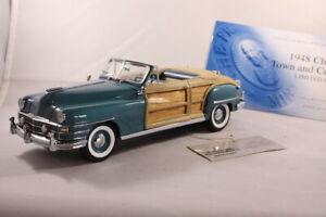 Franklin Mint 1948 Chrysler Town & Country Convertible 1:24 Scale Diecast LE