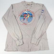 Vintage 1984 Boston Marathon Long Sleeve Shirt Sports Collectible
