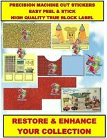 Vintage Playskool Familiar Places HOLIDAY INN Replacement Stickers Decals Lithos