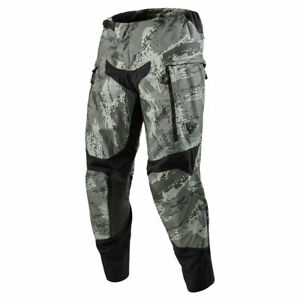 Revit Peninsula In Boot Riding Off Road Motorcycle Textile Trousers Camo Grey