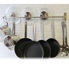 Pot Racks For Kitchen Wall Hanging Ceiling Mount Cookware Pans Hooks Organizer