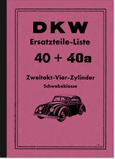 DKW 4=8 Zweitakt Vier Zylinder 4 Schwebeklasse Ersatzteilliste Ersatzteilkatalog