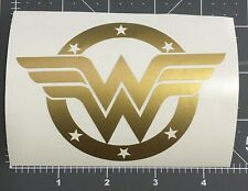 Golden Wonder Woman Car Sticker