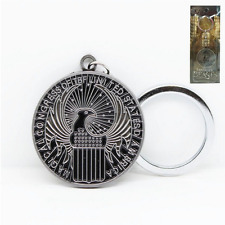 Ancient silver Fantastic Beasts And Where To Find Them Macusa Metal Keychain Key