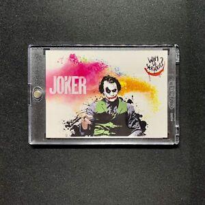THE JOKER Dark Knight COLORBLAST Premium Artist Print Card w/ Case🔥HEATH LEDGER