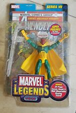 Marvel Legends Series VII Vision Action Fig Sealed with Comic Book Toy Biz 2004