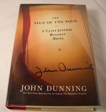 The Sign of the Book by John Dunning - SIGNED 1st Edition / 1st Printing (B67)
