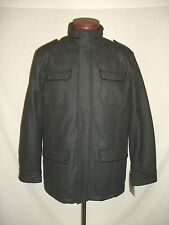 EMANUEL UNGARO Gray Wool Peacoat Jacket - L - NWT $295