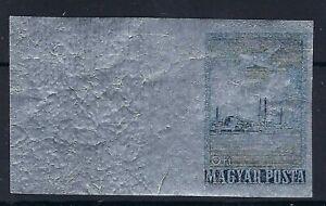 B&D: 1955 Hungary Scott C167 airmail on foil IMERFORATE margin single MNH