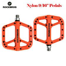 ROCKBROS MTB Widen Nylon Pedals Bicycle Pedal Bearing Mountain Bike Pedal Orange
