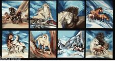 New 8 American Wildlife Horse Panels For Quilts Home Decor & Other Projects #2
