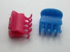 100 Mixed Colour Plastic Hair Claw Clip Clamp DIY 20X20mm